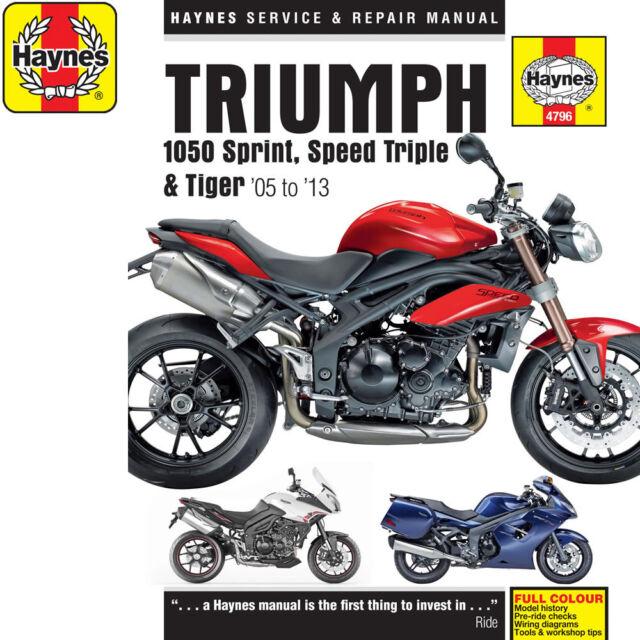 [4796] Triumph 1050 Sprint ST Speed Triple Tiger 2005-13 Haynes Workshop Manual