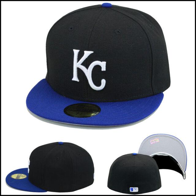 Buy Era 59fifty Kansas City Royals KC Fitted Hat Cap Black royal ... 2d9551562a4