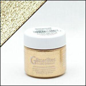 Angelus Glitterlites Desert Gold Lederfarbe 29,5ml (23,56€/100ml) Glitzer Farbe