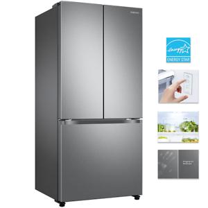 """Samsung RF18A5101SR 33"""" Counter Depth 3-Door French Door Refrigerator 18 Cu. Ft."""