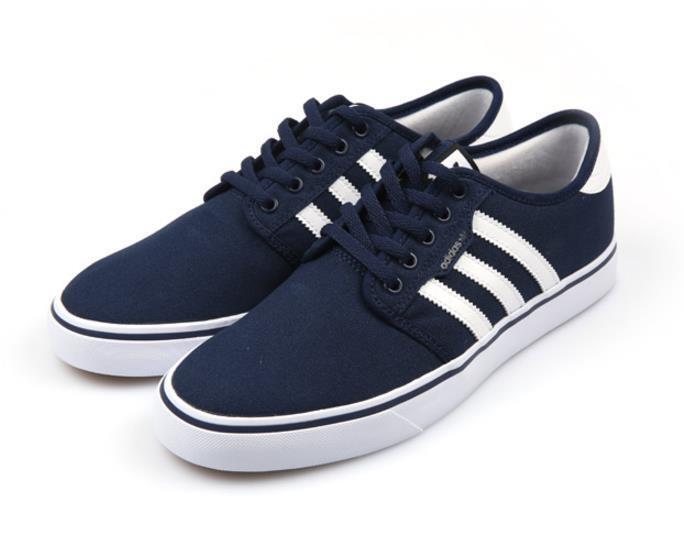 Price reduction AQ8530 Originals Seeley Canvas Men Women Running Shoes Sneakers Navy
