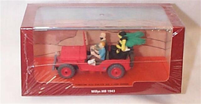 Tin Tin Model Car Diecast Willys Jeep MB 1943 Scale 1//43 Tintin Atlas New