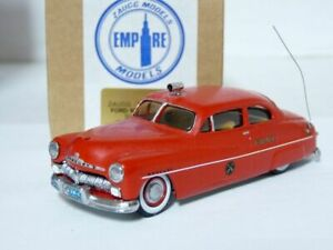 Zaugg-Empire-1-43-1950-Mercury-Coupe-FDNY-Handmade-White-Metal-Model-Car