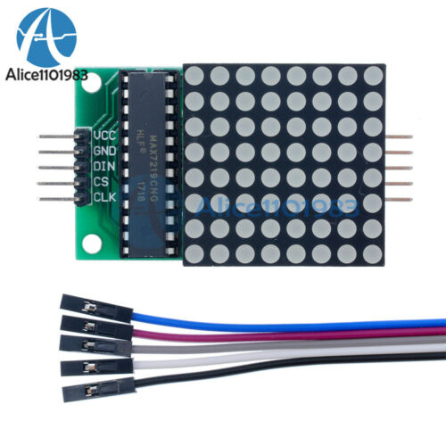 1-10PC MAX7219 MCU Control 8x8 Dot LED Matrix Red LED Display Module for Arduino