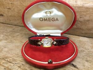 Vintage-Ladies-Omega-Wristwatches-14ct-Gold-Filled