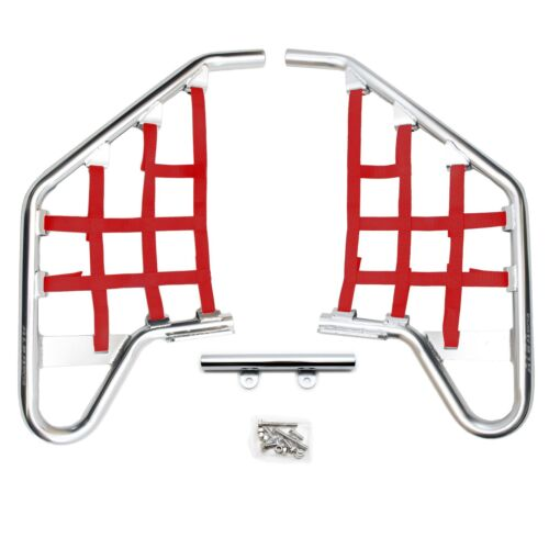 Polaris Outlaw 450  500  525   Nerf Bars   Alba Racing   Silver Red  231 T1 SR