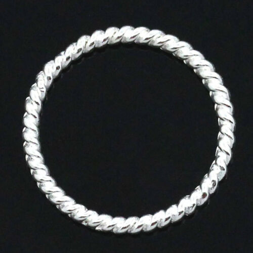 "6//8/"" Dia. 50Circle Hoop HOT Ring Connectors//Pendants Silver Plated 18mm"