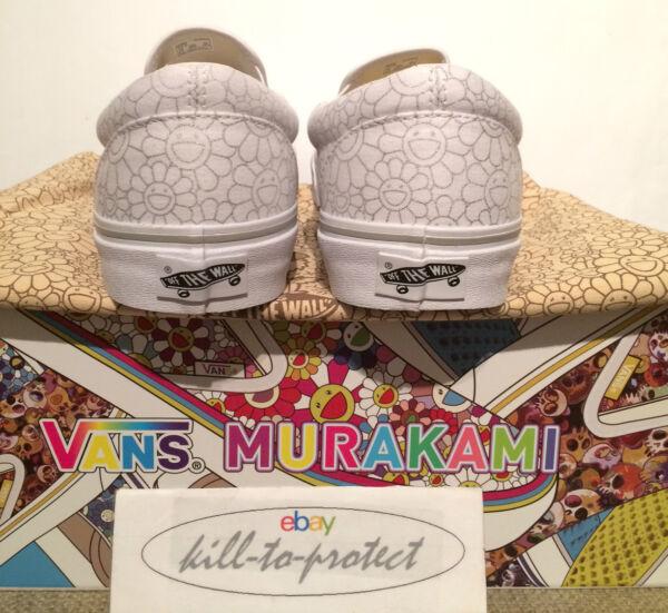 Vans X Takashi Murakami Ligne Argent (fleur) Sz Us Uk6 7 8 9 10 11 Slip On 2015