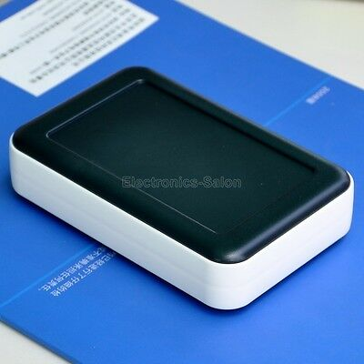 159x99x32mm HQ Hand-Held Project Enclosure Box Case, Black-White, ABS+PP.