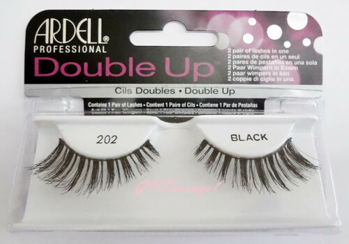 (LOT OF 10) Ardell DOUBLE UP LASHES #202 False Fake Eyelashes Black Thick Full