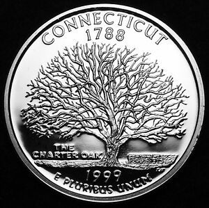 1999-S-Connecticut-State-Gem-Clad-Proof-Statehood-Washington-Quarter-Dollar