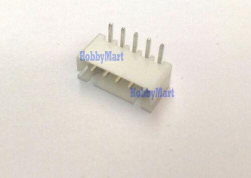 100 pcs XH 2.5mm 5-Pin JST Right-Angle PCB Socket Male Connector Header