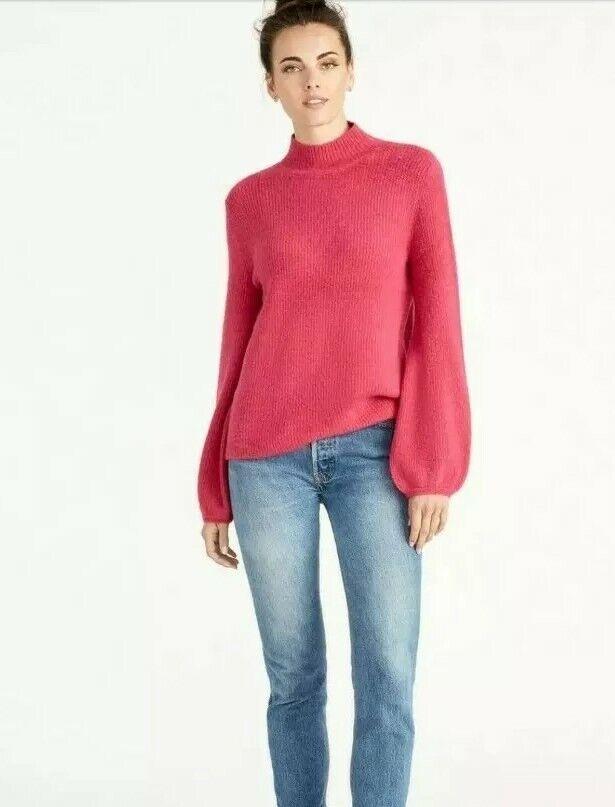NEW Women's Rachel Roy Shayla Pink Lotus Sweater Size XL