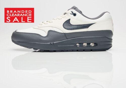 BNIB New Men Nike Air Max 1 Premium Sail Grey Size 7 8 9 10 uk