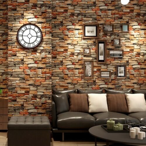 Brown Brick Self Adhesive Decor Peel and Stick Wallpaper 3D Contact Paper Home