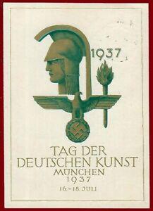 German Third Reich postcard - German Art Day München 1937