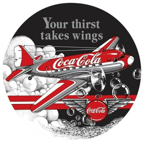 "Vintage Metal Sign /""Your Thirst Takes Wings/"" 14/"" X 14/"" Gift For Pilots or Hangar"