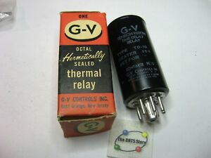 G-V-TO-10-20V-Thermal-Delay-Relay-Tension-Ribbon-Switch-N-O-Contacts-NOS-Qty-1