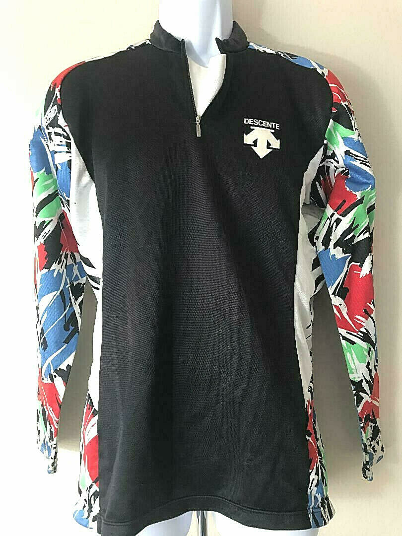 Rare 'n' colorful DESCENTE CYCLING JERSEY  Long Sleeve Sleeved Lightweight  large selection