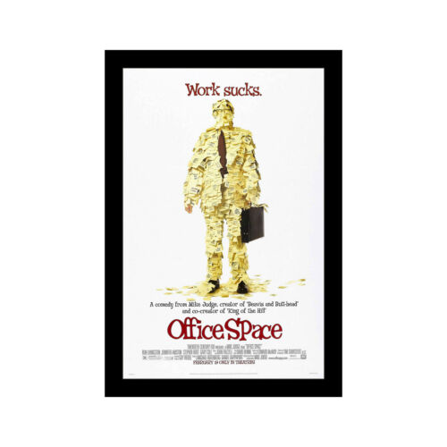 OFFICE SPACE 11x17 Framed Movie Poster by Wallspace