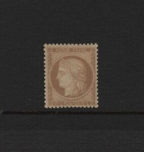 FRANCE-YVERT-59a-SCOTT-56-034-CERES-15c-BISTER-BROWN-1871-034-MNH-VF-SIGNED-T790