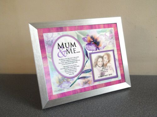 Mum /& Me Family /& Friends Flower Photo Mount Print Gift With A Beautiful Verse