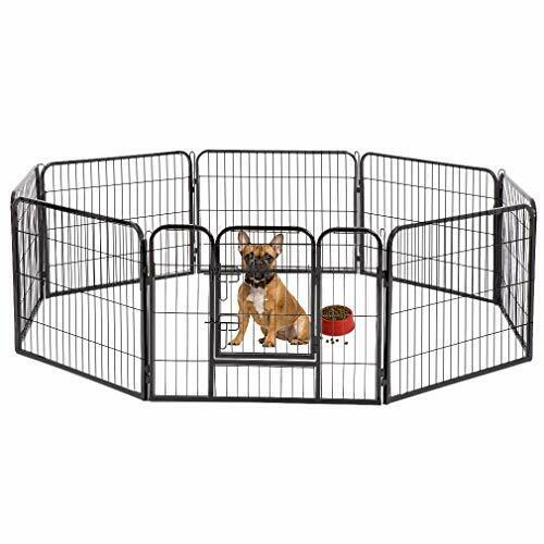 Durable & Portable Camping Pet Fence   Enclosure for Small Dogs & Cats (33 sqft)