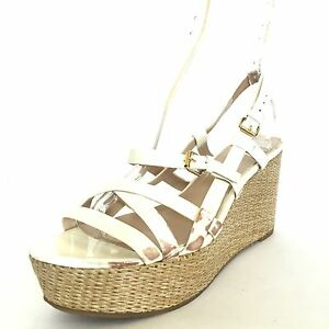 Details about VIA SPIGA TANDY Women's White Strappy Espadrille Wedge Sandals Size 9.5 M*