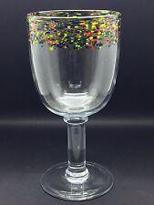 Hand blown water/ wine glass/ goblet/ chalice 1980's vintage
