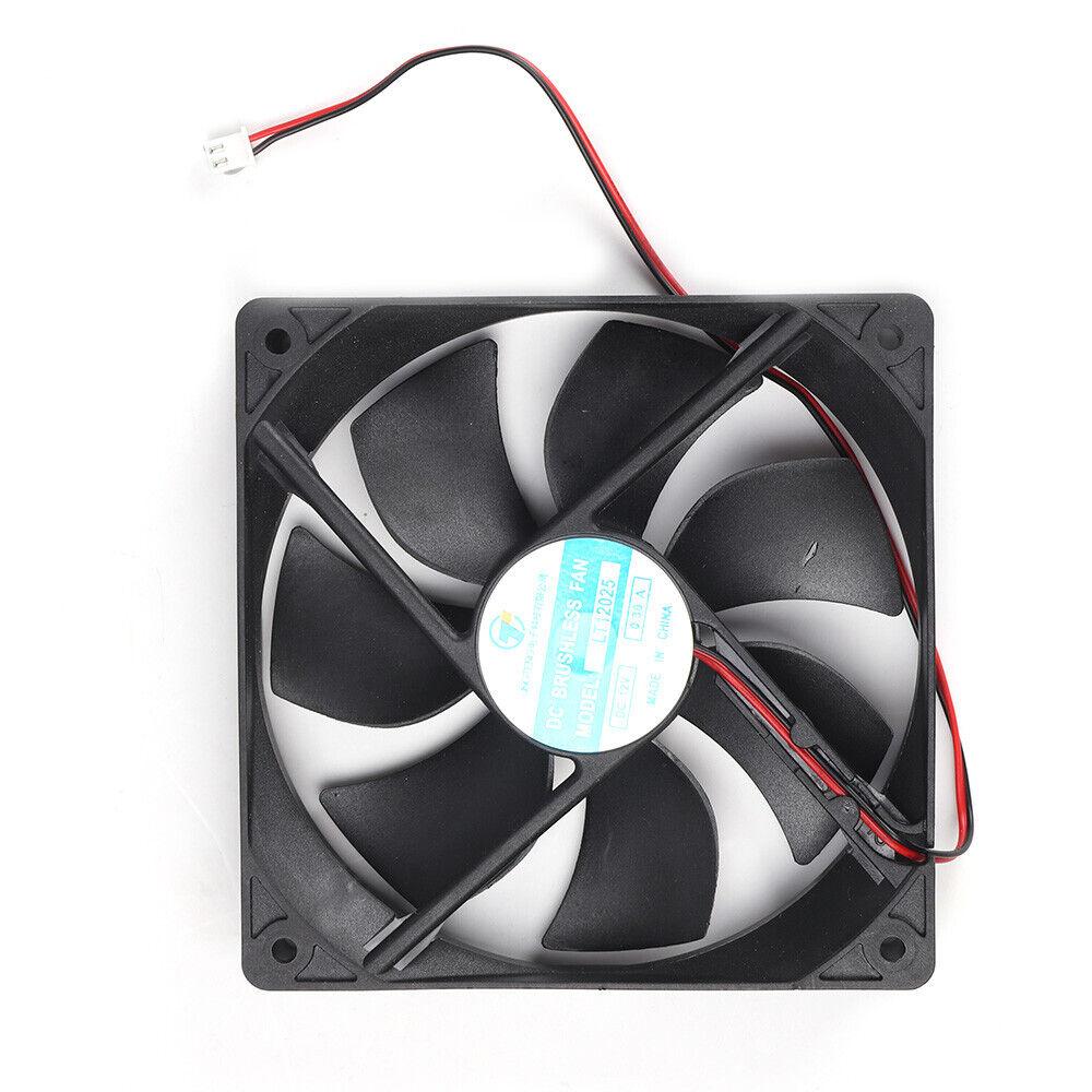 5pcs 120mm 12V 2Pin 12cm 120x120x25mm DC Hydraulic Bearing Brushless Cooling Fan