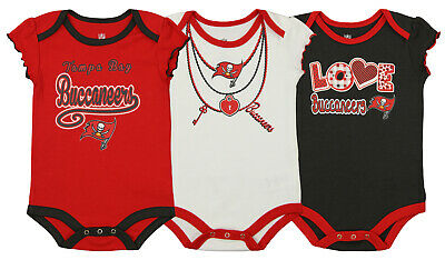 Outerstuff Nfl Infant Girls Tampa Bay Buccaneers Assorted 3 Pack Creeper Set Elegant In Smell Fan Apparel & Souvenirs Girls' Clothing (newborn-5t)