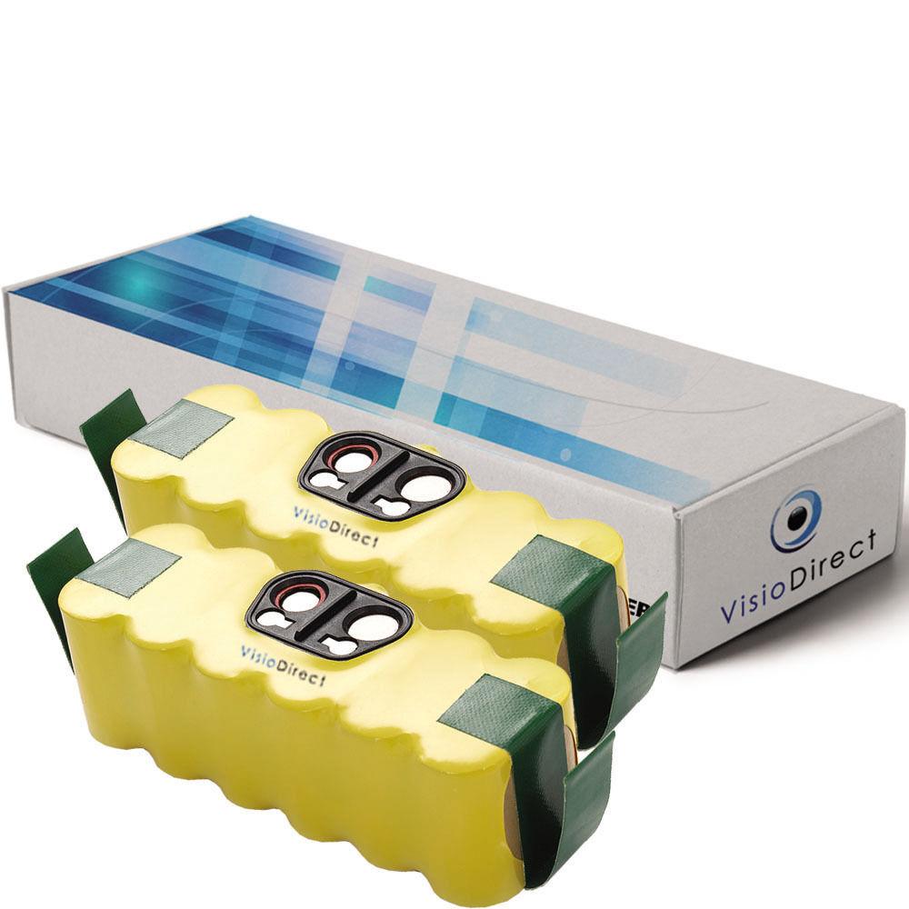 Lot de 2 batteries 14.4V 3500mAh pour iRobot Roomba 555 - Société Française -