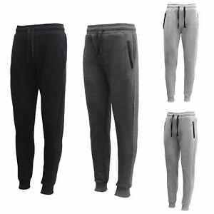 Men-039-s-Fleece-Lined-Jogger-Track-Sweat-Pants-w-Elastic-Hem-Causal-Sports-Trackies