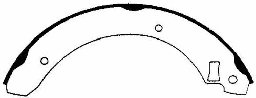 REAR Bonded Drum Brake Shoe Fits 85-89 Merkur XR4Ti