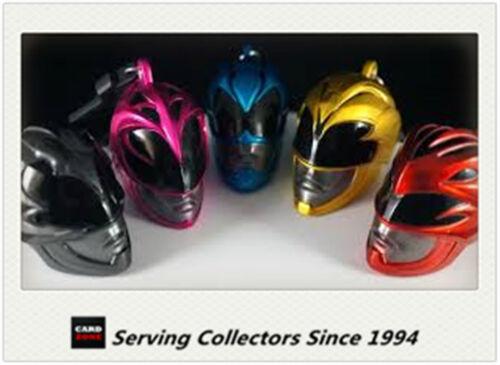 -COOL! Power Rangers Movie Key Ring//chain Mini Helmet Bag Clips Full Set 5