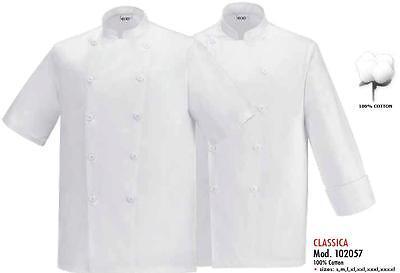 GIACCA CUOCO SECURITY MANICA LUNGA EGOCHEF 100/% COTONE EGOCHEF CHEF JACKET 厨师外套