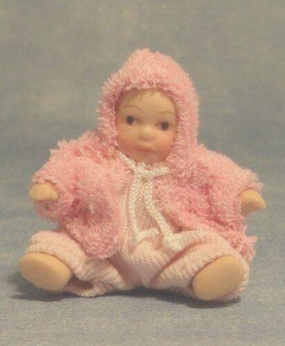 Casa de muñecas muñecas: porcelana muñeca de bebé de niña escala 12th