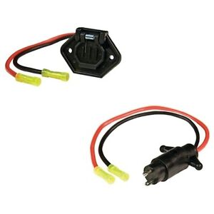 2 Wire Trolling Motor Plug and Socket Set for Boats - 10 Gauge ...