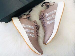 60303479c0d0b9 Crystal Adidas NMD R2 Gr. 40 2 3 Luxus Sneaker Bling mit Swarovski ...