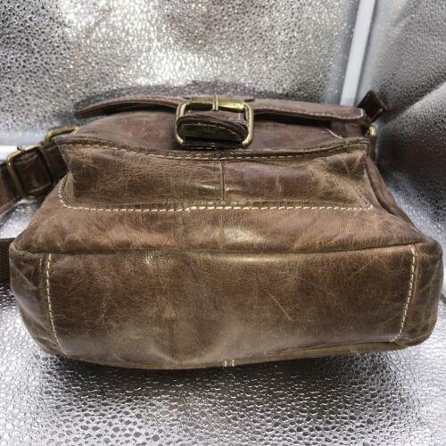 Body Saddle Satchel Bag Brown Rowallan Leather Shoulder Natural Cross Messenger F6IF0B