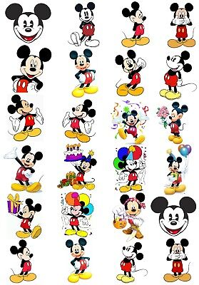 Mickey /& Minnie Mouse 48 Large Sticky White Paper Stickers Labels New