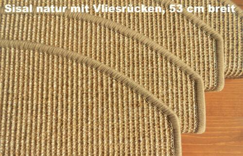 NEU Set 13 Stück kleine SISAL-Stufenmatten mit Vliesrücken 53x18,5x3,5cm natur