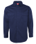 WORK-SHIRT-NAVY-KHAKI-Air-Vent-UPF-50-COTTON-DRILL-LONG-SLEEVE-TRADITIONAL-SHIRT thumbnail 6