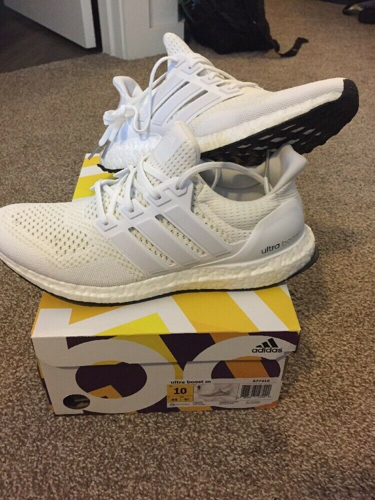NEW adidas ultraboost 1.0 all white USED NMD R1 trace cargo size 10 AUTHENTIC