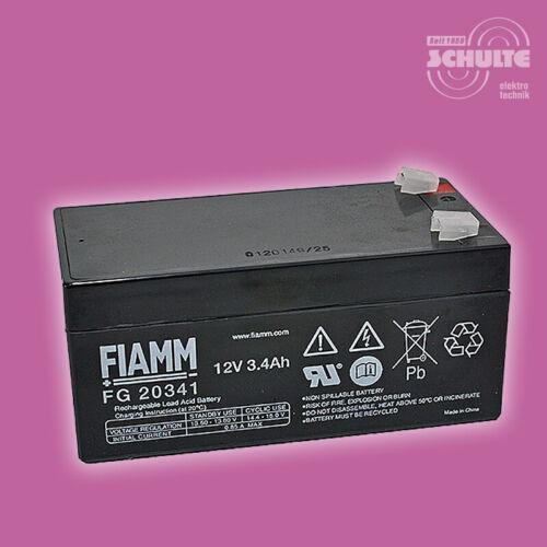 Akku Batterie FIAMM FG20341 12V 3,4Ah Blei AGM für USV Brandschutz Sicherheit