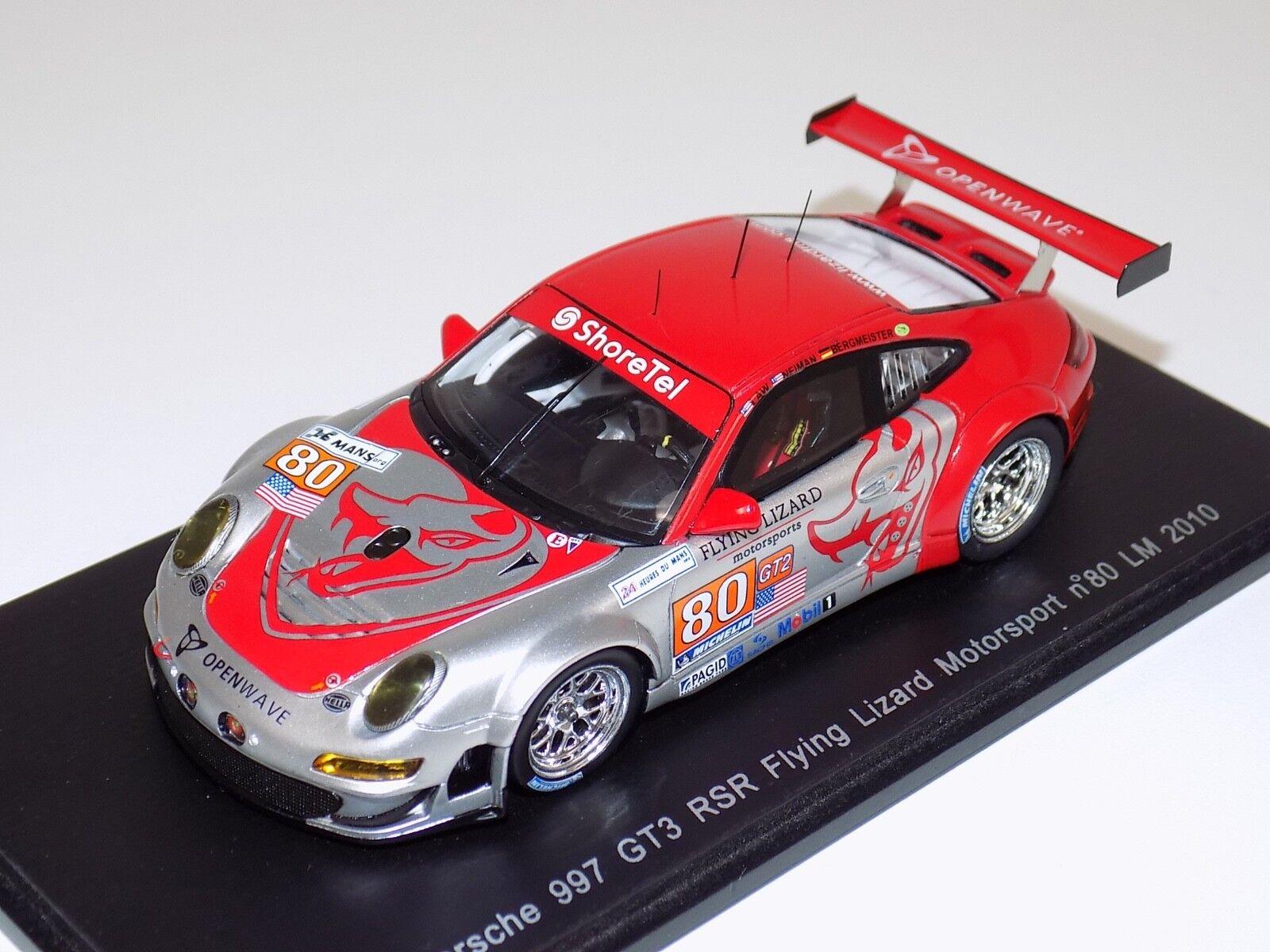 1 43 SPARK PORSCHE 911 (997) GT3 RSR Voiture  80 de 2010 24 H LeMans S2584