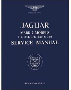 Werkstatthandbuch Shop Manual Jaguar Mk 2 2 4 3 4 3 8 240 340 Ebay