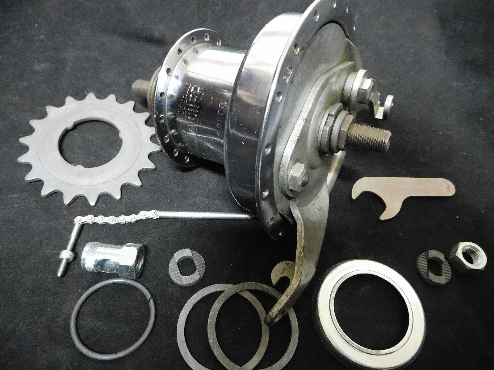 Vintage Sturmey Archer Rear drum brake hub,  36 Holes 3 speed Very rare. NOS 1972  save up to 50%
