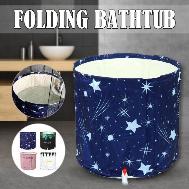 US Folding Bathtub Portable PVC Foldable Water Place Tub Room Spa Massage Bath !