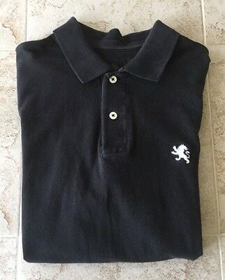EXPRESS Classic Polo Men's Short Sleeve Shirt Size M-Black.      #1028
